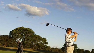 Young talent: Karl Vilips, 9, is the youngest to compete in a Golf Victoria pennant.