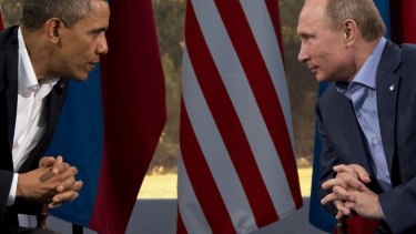 President Barack Obama meets with Russian President Vladimir Putin in Enniskillen, Northern Ireland, Monday, June 17, 2013. Obama and Putin discussed the ongoing conflict in Syria during their bilateral meeting.