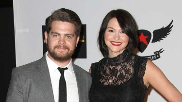 Jack Osbourne with fiancée Lisa Stelly. The couple have a new baby, Pearl, who was born in April. Photo: Getty.