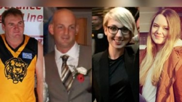 Kym Brett Curnow, Thomas Leslie Butcher, Anna Sashohova Winther and Julia Kohrs-Lichte were killed in the Esperance fires.