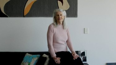 Qualified architect: Penelope Seidler in her apartment.