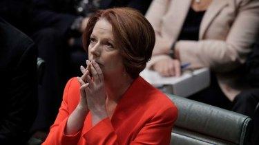 Prime Minister Julia Gillard listens during the asylum seeker debate in Parliament this week.