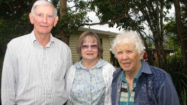 Gap storm survivors Bob and Lorna Hunter with neighbour Gwenda Spencer.