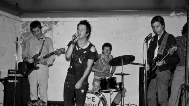 The Hard-Ons at Brisbane's Curry Shop in 1979. Photo courtesy of John Oxley Library Brisbane.
