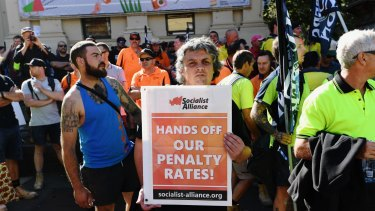 The decision to cut penalty rates has been a devastating blow to Australia's union movement