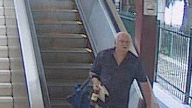 'Spine chilling' ... Allan Richard Hodson captured on CCTV after the attack.