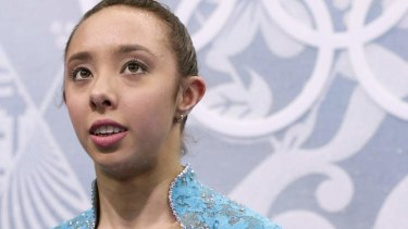 Brooklee Han of Australia waits for her results.