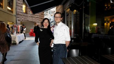 Dynamic duo ... China Lane manager Bacci Moore and chef Ben Haywood.
