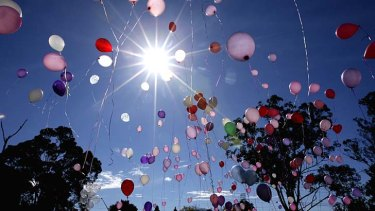 A community balloon release.