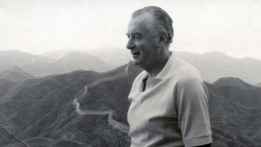 Gough Whitlam on the Great Wall of China during a visit in 1971.