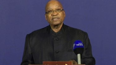 """Our nation has lost its greatest son."":  South Africa President Jacob Zuma announces the death of Nelson Mandela."