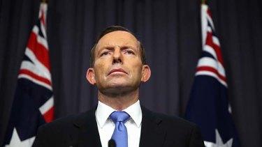 Spin doctors: Prime Minister Tony Abbott.