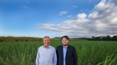 Tony and Justin Fung at the Yorkeys Knob site where Aquis has been proposed.