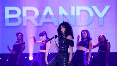 R&B star Brandy performs at a previous, more popular concert.