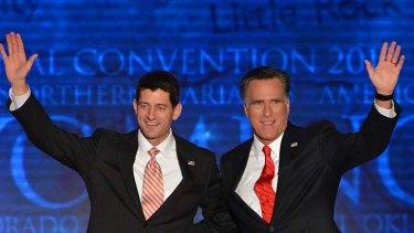 Dream team ... Paul Ryan and Mitt Romney. Mr Ryan's speech was hailed before coming under scrutiny for bending the truth.