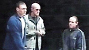 Bad company: (left to right) Jamie Vincent, Arkadi Drisner and Dallas Fitzgerald.