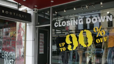 'For lease' signs are becoming increasingly common as retailers leave the strip.