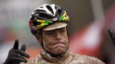 Australia's Cadel Evans winning the seventh stage of the Giro d'Italia in May.