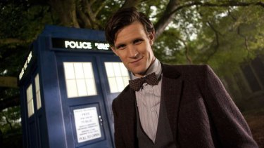 Doctor Who, played by Matt Smith, and his TARDIS