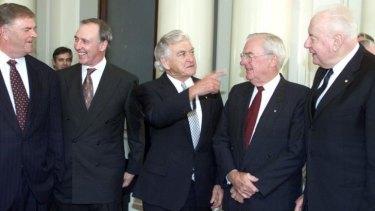 Former Labor leaders Kim Beazley, Paul Keating, Bob Hawke, Bill Hayden and Gough Whitlam