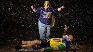 Superheros unmasked: Mark Deans and David Woods.