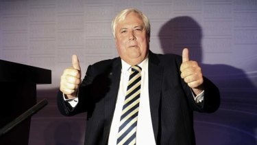 Clive Palmer is motivated primarily by revenge against the party that spurned him.