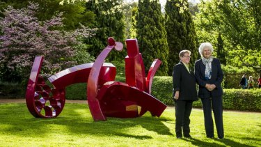 A NICE FEATURE: Centenary of Canberra director Robyn Archer and Open Gardens Australia president Tamie Fraser in Lambrigg's garden.
