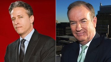 Sparring partners: Jon Stewart and Bill O'Reilly.