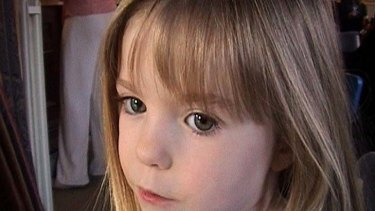Missing ... Madeleine McCann.
