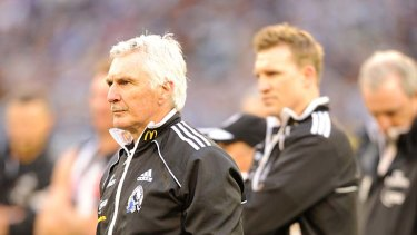 The vanquished: Mick Malthouse and his successor Nathan Buckley.