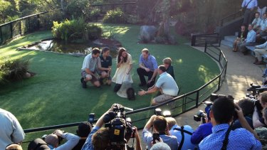 The Duke and Duchess meet some echidnas.