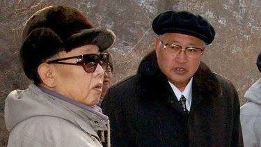 Kim Jong-il  with Jang Song-taek, who is married to Kim Jong-il's sister Kim Kyong-Hui.