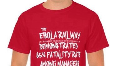The Ebola Railway is a term some staff use to describe Metro Trains.