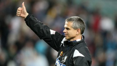Thumbs down ... Sydney FC coach Vitezslav Lavicka missed out on the league's coach of the year award, despite winning the Premiers' Plate.