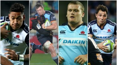 True blues: Israel Folau, Jed Holloway, Tom Robertson and Nick Phipps took out the other awards.