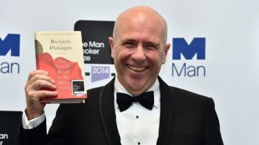 Modern masterpiece: Richard Flanagan after winning the Booker Prize.