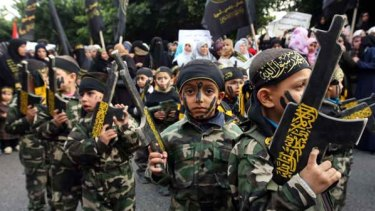 Outraged ... Palestinian Islamic Jihad supporters rally in Gaza City.