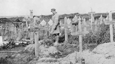 Australian and German graves on the Western Front