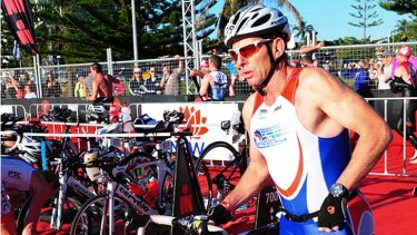 Tony Abbott in the Ironman event in Port Macquarie in 2011.