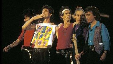 The Rolling Stones with Bill Wyman, from Bill Wyman's Scrapbook.