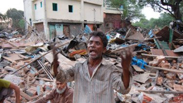 ''This has been my home for 25 years but now I've lost everything.'' ... labourer Basant Paswan.