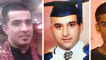 Killed ... From left, Haroon Jahan, Shazad Ali and Abdul Musavir.