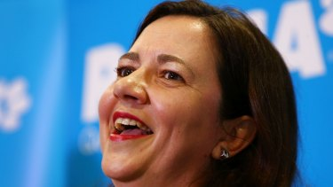 Premier Annastacia Palaszczuk's government started with 14 mega-portfolios, in contrast with the previous LNP government.