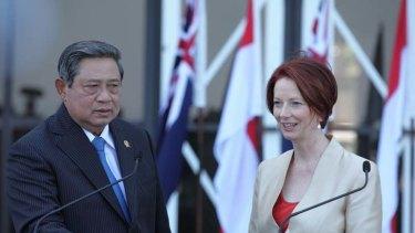 The leaders in Darwin yesterday.