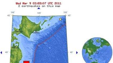 7.2 magnitude ... a USGS map of where the quake occurred.