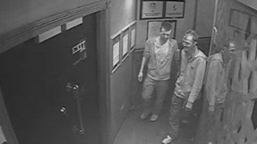 Police wish to speak to these men in relation to the attack in Wellington Street.