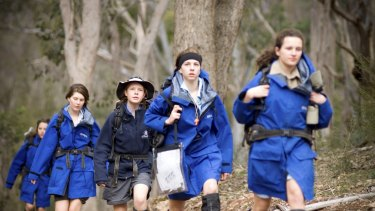 In it together: Students at Lauriston Girls School attend a retreat in the mountains at Howqua.