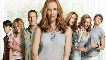 Toni Collette's family and various incarnations in <em>United States of Tara</em>.