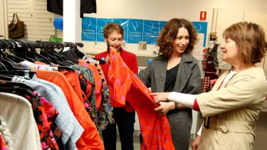 Gorman founder Lisa Gorman (centre) has held sales in the past to benefit charities such as the Peter MacCallum Cancer Centre.