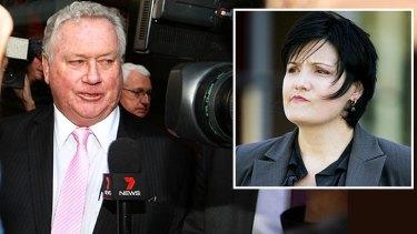 Key players: Newcastle lord mayor Jeff McCloy, left, and Jodi McKay.